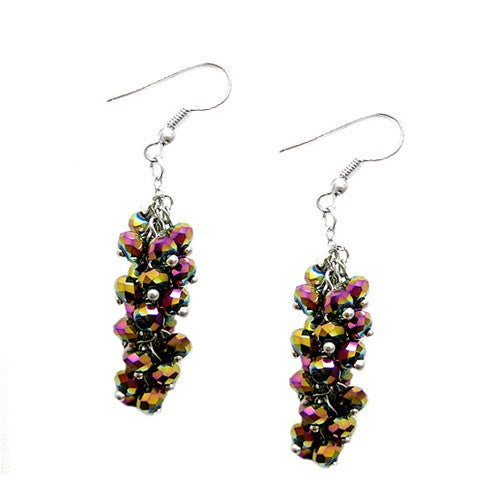 Women's Fashion Rainbow Ab Mini Glass Crystal Chandelier Earrings Gift For Her