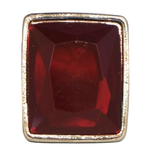Women's Fashion Ruby Red Ring In Square Shape Gift For Her
