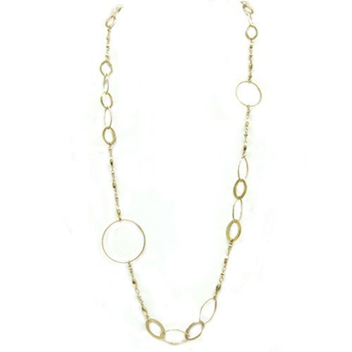 Fashion Gold Hoop Link Necklace Women's Girl'S Gift For Her
