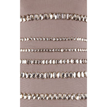 """RACHAEL"" Nude Jewel Band Bodycon Dress"