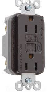 Legrand Pass & Seymour - TradeMaster GFCI Receptacle - 15 Amp - 125V - Brown - 1597