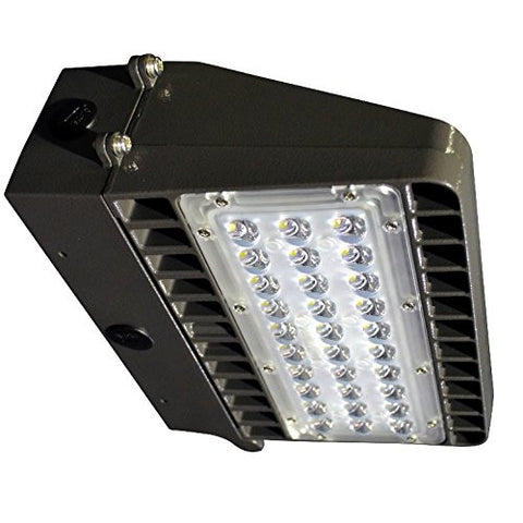 Paclights F2WP048 48 Watt LED Full Cutoff Wallpack Light Fixture 5000K DLC Listed