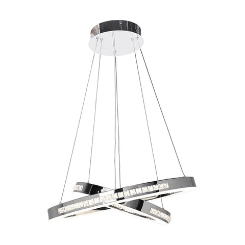 Access Lighting 62458LEDD-CH/CCL Affluence Dual Ring LED Pendant