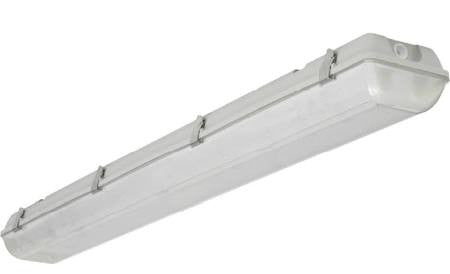 Louvers International 3 Lamp 4 Ft T8 Advantage Fluorescent Vapor Dust Water Proof Wet Location Fixture NSF IP66 Rated ADV4-P-3T8-20