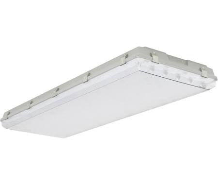 Louvers International ADV4W-6T5-20 Advantage 4 Ft T5 6 Lamp Wide Body Vaportight Fixture NSF Approved IP66 Rated