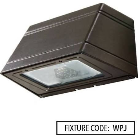 Noribachi HEX-021-B-CW-MT-WPJ 32 Watt LED Wallpack J Light Fixture 21 LED's Tempered Glass Lens 5700K