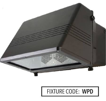 Noribachi HEX-042-B-CW-MT-WPD 63 Watt LED Wallpack D Light Fixture 42 LED's High Impact Tempered Glass Lens 5700K