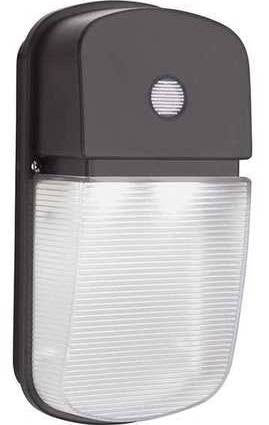 Lithonia Lighting OLWP 11 PE BZ M4 20 Watt Outdoor LED Wallpack Light Fixture with Button Photocell 120V 4000K