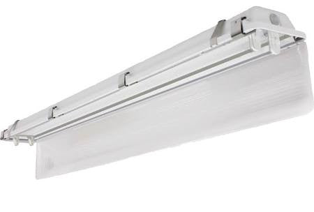 US Energy Sciences VCT-02T04-WA-FX18 36 Watt 2 Foot 4 Lamp Wide Vaportight Fixture Housing White Aluminum Reflector with LED Tubes Installed