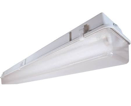 US Energy Sciences VPT-013204 1 Lamp T8 4 Ft 4' Vaportight Fluorescent Light Fixture with Frosted Lens