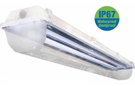 ILP Amazon WCL 4 Ft 4' T8 Fluorescent Vapor Tight Light Fixture with Water Clear Lens