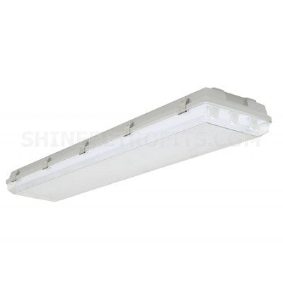 Louvers International ADV4M-4T5-20 Advantage 4 Ft T5 4 Lamp Medium Body Vaportight Fixture NSF Approved IP66 Rated