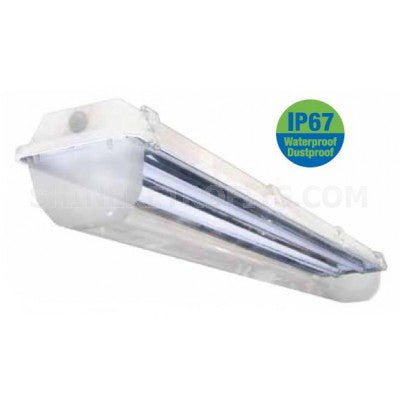 ILP Amazon WCL 8 Ft 8' T8 Fluorescent Vapor Tight Light Fixture with Water Clear Lens