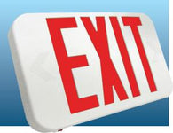 US Energy Sciences EX1-01XUP-WG-1B Universal LED Exit Sign White Body Green Letters with Back-up Battery