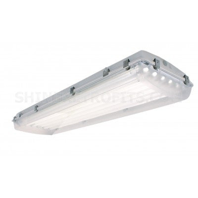 US Energy Sciences VHB-083204-EA-H 8 Lamp T8 4 Ft Vaportight Dust Proof High Bay Light Fixture with 95% MIRO4 Mirror Reflector