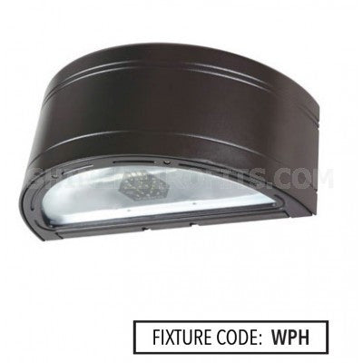 Noribachi HEX-084-B-CW-MT-WPH 126 Watt LED Wallpack H Light Fixture 84 LED's Tempered Glass Lens 5700K