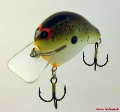 ZOOM BAIT COMPANY WEC E-I CRANKBAIT WATERMELON BROWN SPLATTER