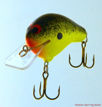 ZOOM BAIT COMPANY WEC E-I CRANKBAIT CHARTREUSE BLACK SPLATTER BACK RED THROAT