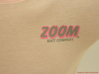 ZOOM SHORT SLEEVE LADIES PINK T-SHIRT STYLE111 SIZE X-LARGE