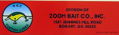 ZOOM BAIT COMPANY, WEC Custom Lures, 1581 Jennings Mill Road, Bogart, GA 30622