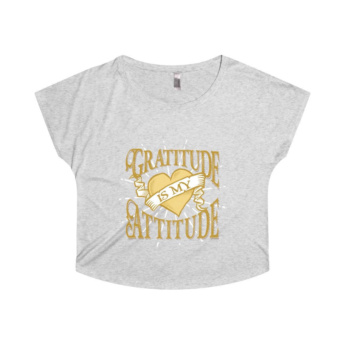 Gratitude is My Attitude Women's Tri-Blend Dolman - SoREALa