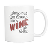 There is a Good chance There's Wine in Here White 11oz Mug - SoREALa