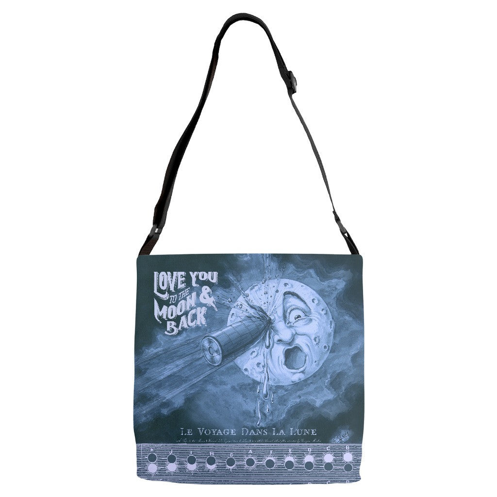 Love You to the Moon... Everything Bag with Adjustable Strap - SoREALa