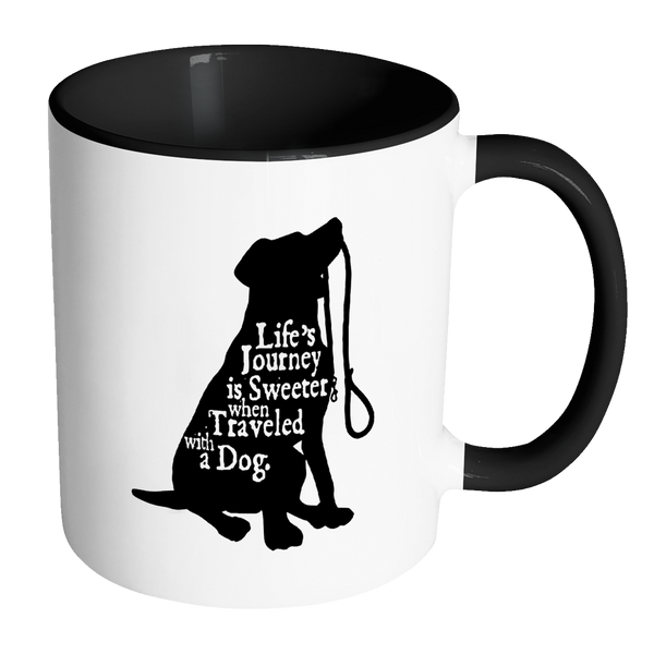 Sweeter Travels... Dog Accent Mug - SoREALa
