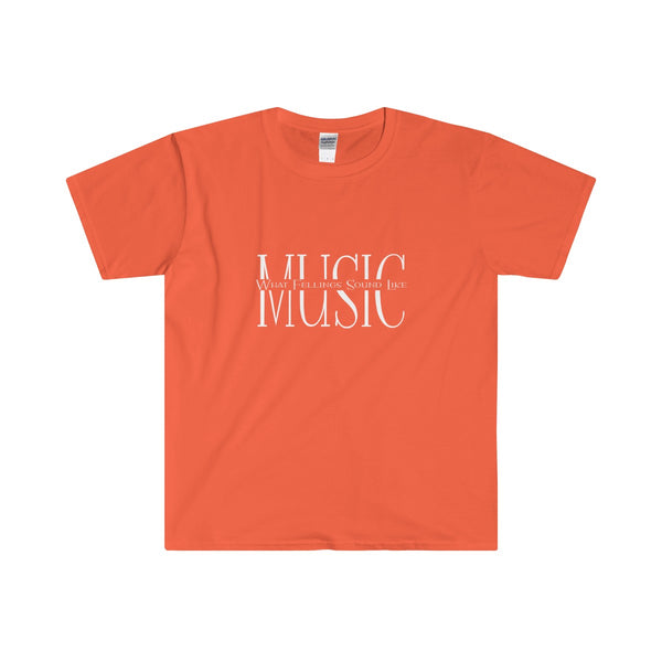 Music, What Feelings Sound Like Softstyle® Adult T-Shirt - SoREALa