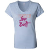 Love Is Built Women's Short Sleeve Jersey V-Neck Tee - SoREALa