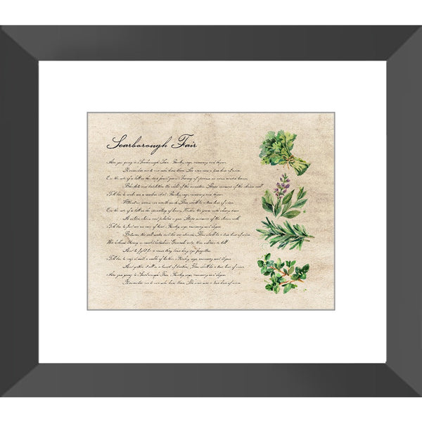 Scarborough Fair Black Framed Print - SoREALa