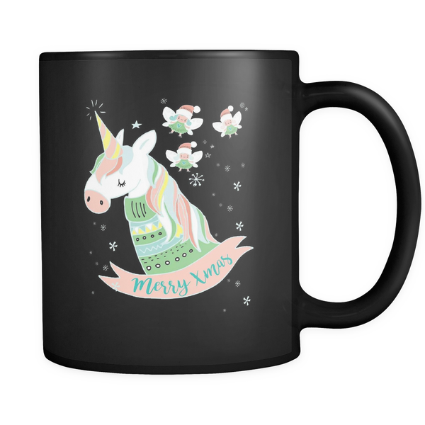 Enchanted Christmas 11oz Black Mug - SoREALa