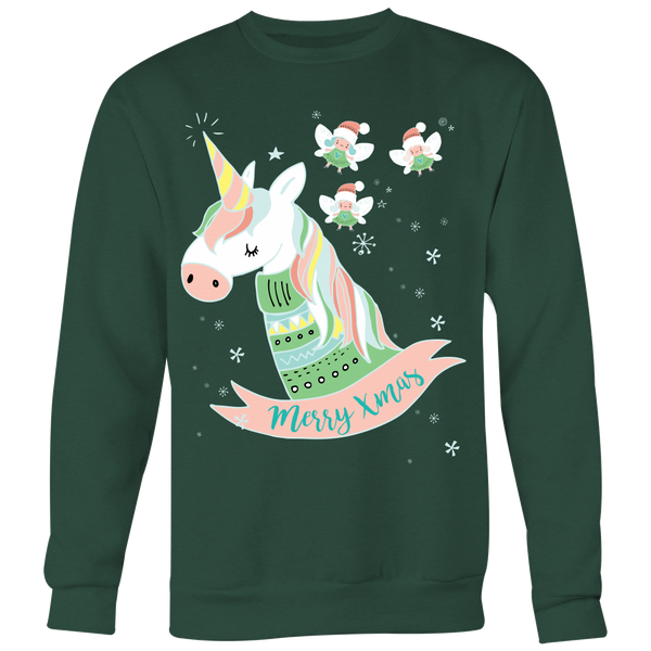 Enchanted Christmas Crewneck Ugly Christmas Sweatshirt - SoREALa