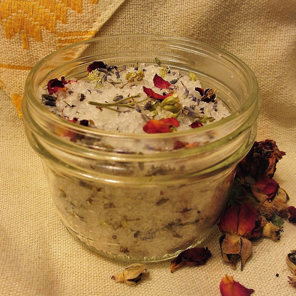 Valentine's day recipe for Calming Calendula Bath Salts.. YUMMful relaxation!