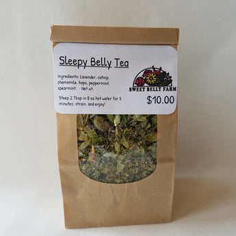 Sleepy Belly Tea local Idaho Herbs by Sweet Belly Farm