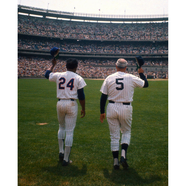 Willie Mays and Joe DiMaggio