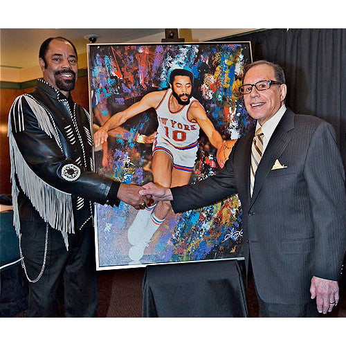 "Walt ""Clyde"" Frazier and George Kalinsky"