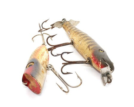 Creek Chub Heddon Old Wooden Fishing Lures Antique for sale