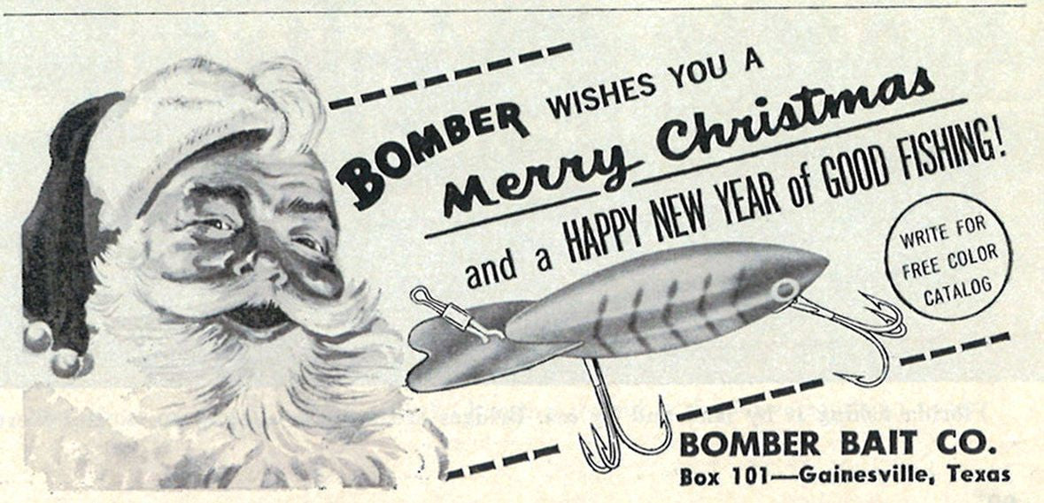 Unknown Santa Bomber Bait Christmas Ad