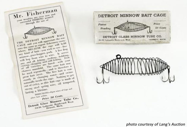 Detroit Minnow Bait Cage in Picture Box