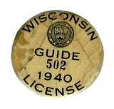 Wisconsin vintage guide button