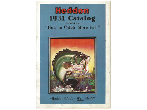 Heddon 1931 Catalog Cover