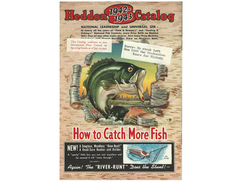 Heddon 1942-43 Catalog Cover