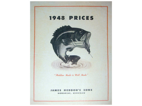 Heddon 1948 Price List Catalog Cover