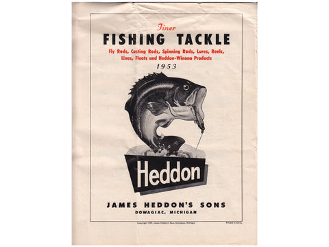 Heddon 1953 Catalog Cover Unknown Version