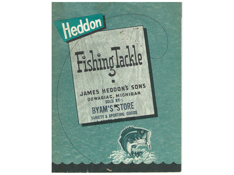 Heddon 1958 Small Size Catalog Cover