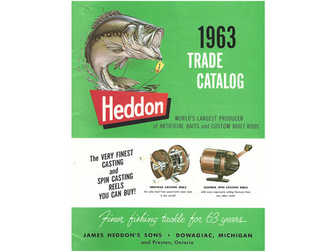 Heddon 1963 Trade Catalog Cover