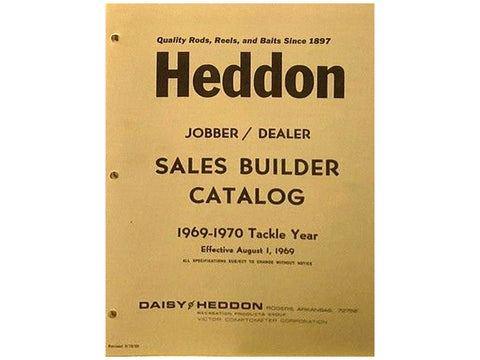Heddon 1969-1970 Sales Builder Catalog