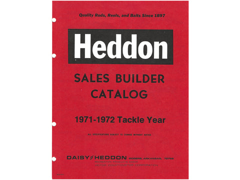 Heddon 1971-1972 Sales Builder Catalog Cover