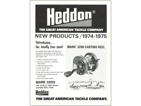 Heddon 1974-1975 New Products Catalog Cover